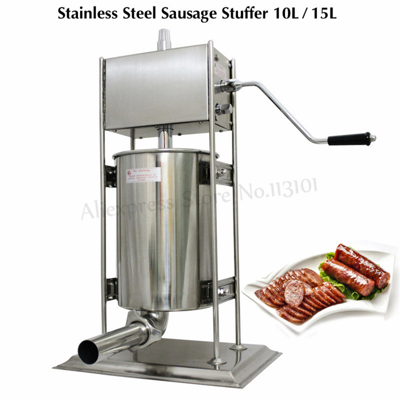 Commercial 10L Sausage Filling Machine Hand Crank Sausage Meat Extruder Butcher Shop Spain Churro Machine Churros Maker