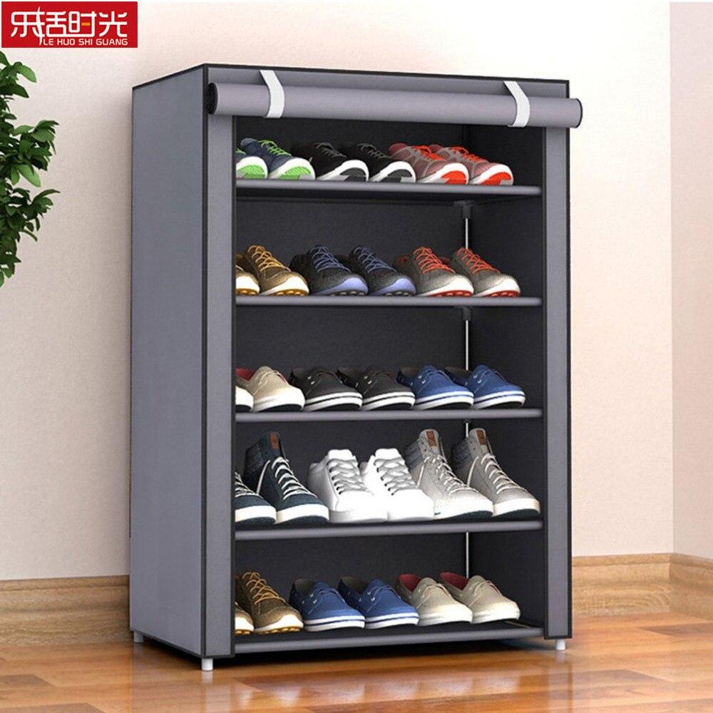 Kain Bukan Tenunan Sederhana Rak Sepatu Dekat dengan Pintu Dilepas Sepatu Organizer Lemari Penyimpanan Ruang Tamu Tahan Debu Rak Sepatu