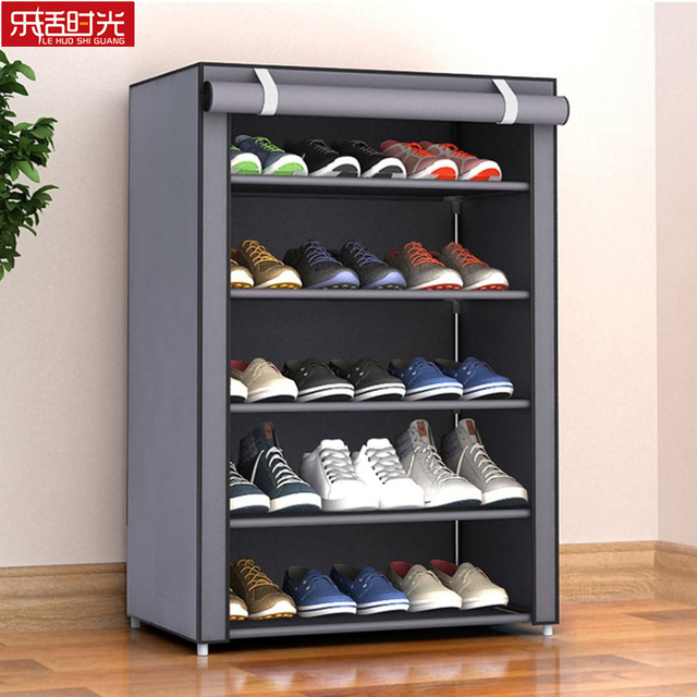 Aliexpress Nonwoven Fabric Simple Shoes Rack Close To The Door Detachable Organizer Closet Storage Living Room Dustproof Shoe Shelf From