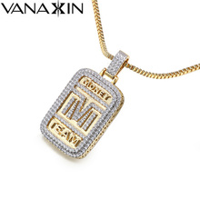 Pendants Necklaces Slide Punk Style Jewelry Personality Statement Necklaces Accessories for Man Copper Square Necklace