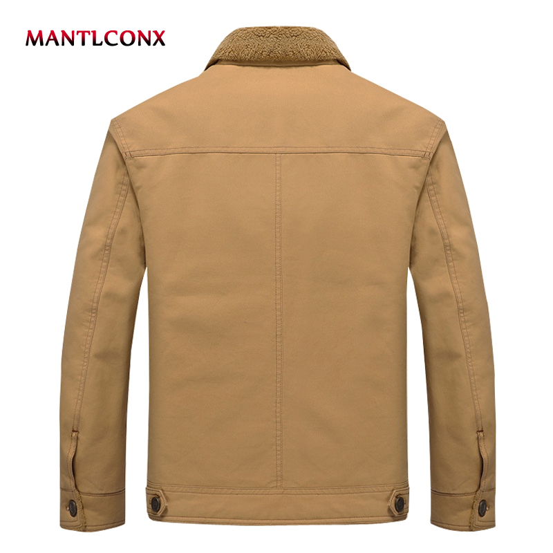 Mantlconx New Winter Men's Wool Jacket Casual Coat Mens Thicken Jackets Men Overcoat Outwear Brand Military Outwear For Man