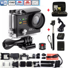 "Sport Video Camera Ultra HD 4k WIFI H8R H8 with remote control Dual Screen 2"" LCD Waterproof Helmet VR360 Camcorder DVR"