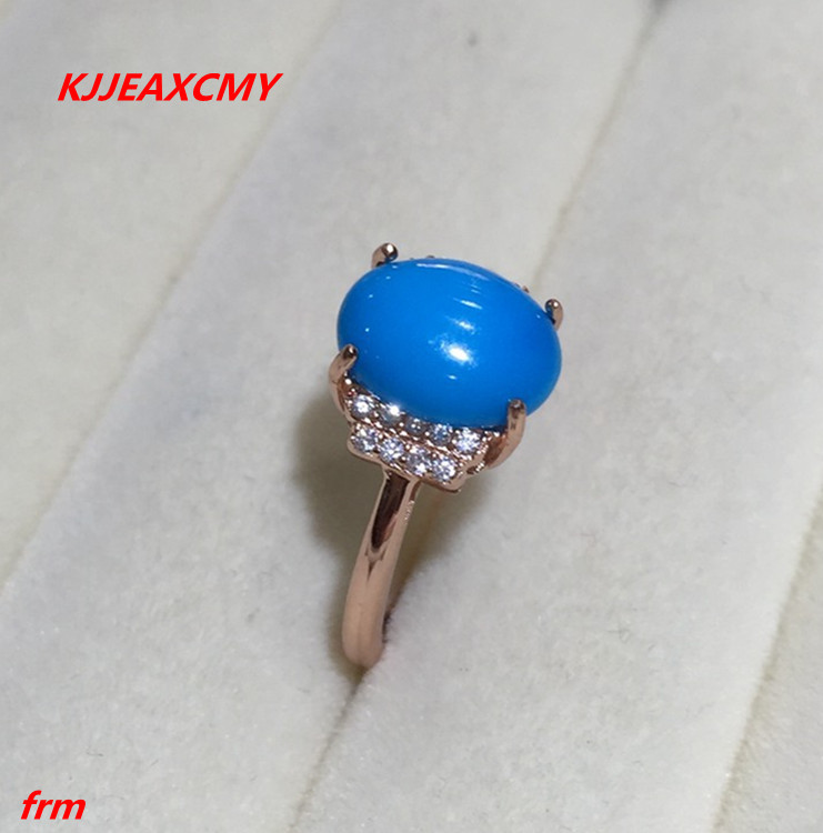 KJJEAXCMY Fine jewelry 925 sterling silver Inlaid natural blue loose female ring ring kjjeaxcmy fine jewelry 925 sterling silver inlaid natural amethyst ring wholesale opening ladies adjustable support testing