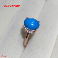 KJJEAXCMY Fine jewelry 925 sterling silver Inlaid natural blue loose female ring ring