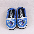 Children's indoor cotton slippers / 2017 new Korean home slippers kids, blue cartoon pattern boy slippers