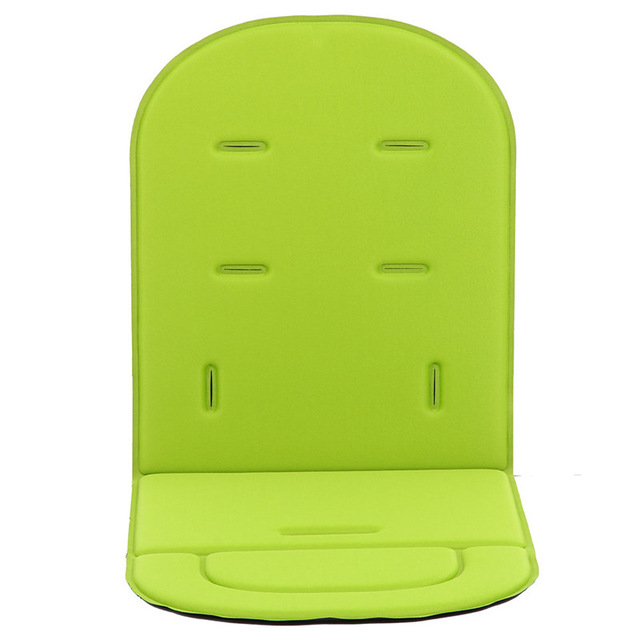 Car Seat Seat Breathable Cotton Cushion Seat Seat Cushion Padded Insole Baby Stroller Stroller Accessories 80 x34 x1.35 cm green