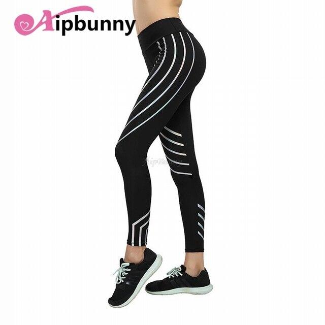 Legging Leggings Plus Size Women'S Running Tranining Fitness Laser Joggers Reflective Sport Yoga Pants XXXL Big Girl