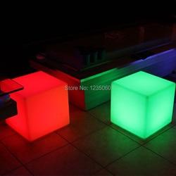 20 cm nacht club party im freien dekoration LED cube/LED stuhl/LED bar tisch licht