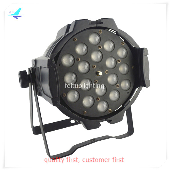 free shipping 4Xlot Power Zoom 18x18w DJ Stage Par Light RGBWA 5in1 Indoor Super Bright LED Par Can Strobe Effect DMX Party Wash