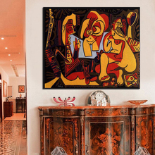 Pure Hand-Painted Top Quality Modern Abstract Oil Painting On Canvas The Luncheon Grass Decorative Wall Pictures Art