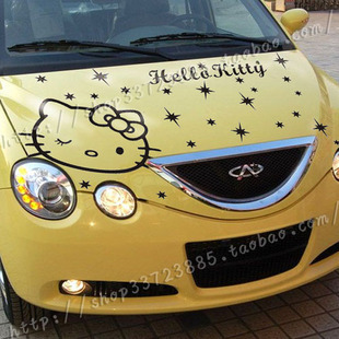 O Kitty Decal Stickers Kamos Sticker - Hello kitty car decal stickers