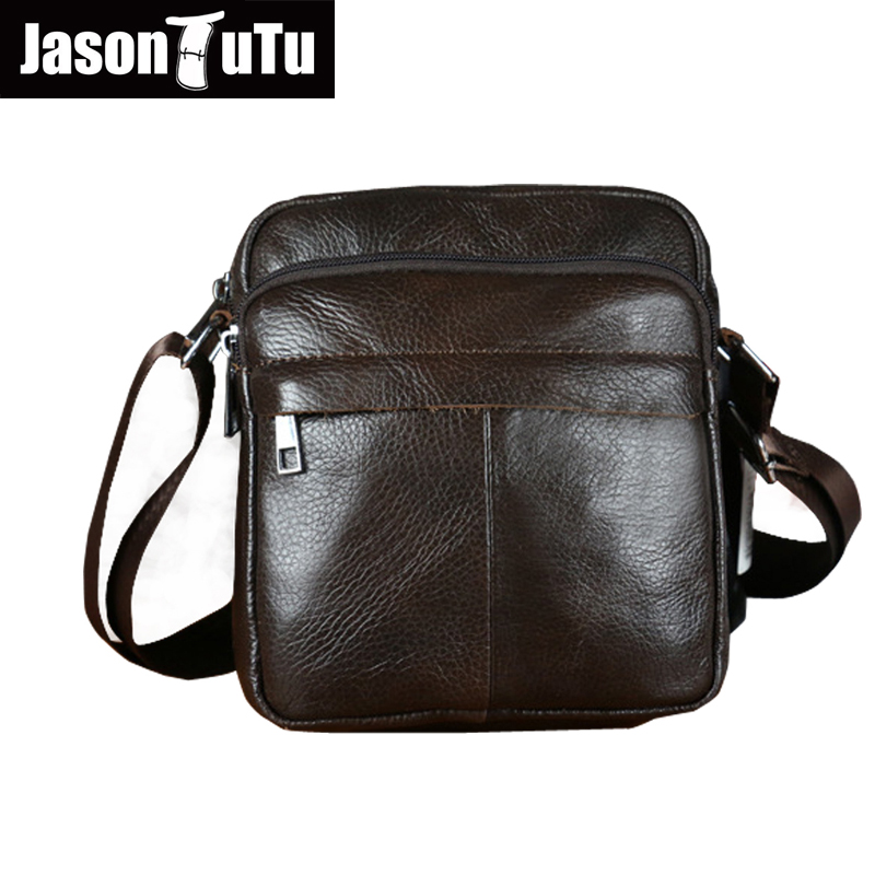 Genuine Leather Men Shoulder Bags New Fashion Hot Male Handbag Small Crossbody Messenger Bag Travel Bolsa Brown Men's Satchels hot 2017 genuine leather bags men high quality messenger bags small travel black crossbody shoulder bag for men li 1611