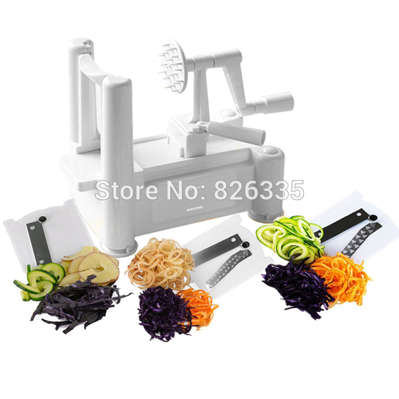 Essential Tri Blade Vegetable Slicer Spiralizer Cutter Mandoline Chopper Cooking Tools Kitchen font b Knife b