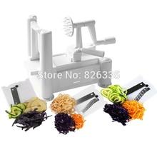 Essential Tri-Blade Vegetable Slicer Spiralizer Cutter Mandoline Chopper Cooking Tools Kitchen Knife