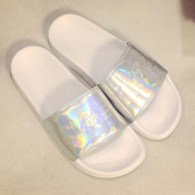 Summer women Slippers female indoor outdoor Slides Ladies Flat Sandals Flip  Flops Bling Beach Zapatos Mujer e3e931e3b180