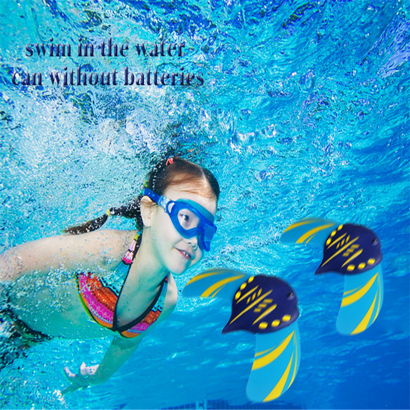 Children Underwater Glider Swimming Pool Fish Toy Hydrodynamic Stingray Shape Summer Water Sport Toy With Adjustable Fins