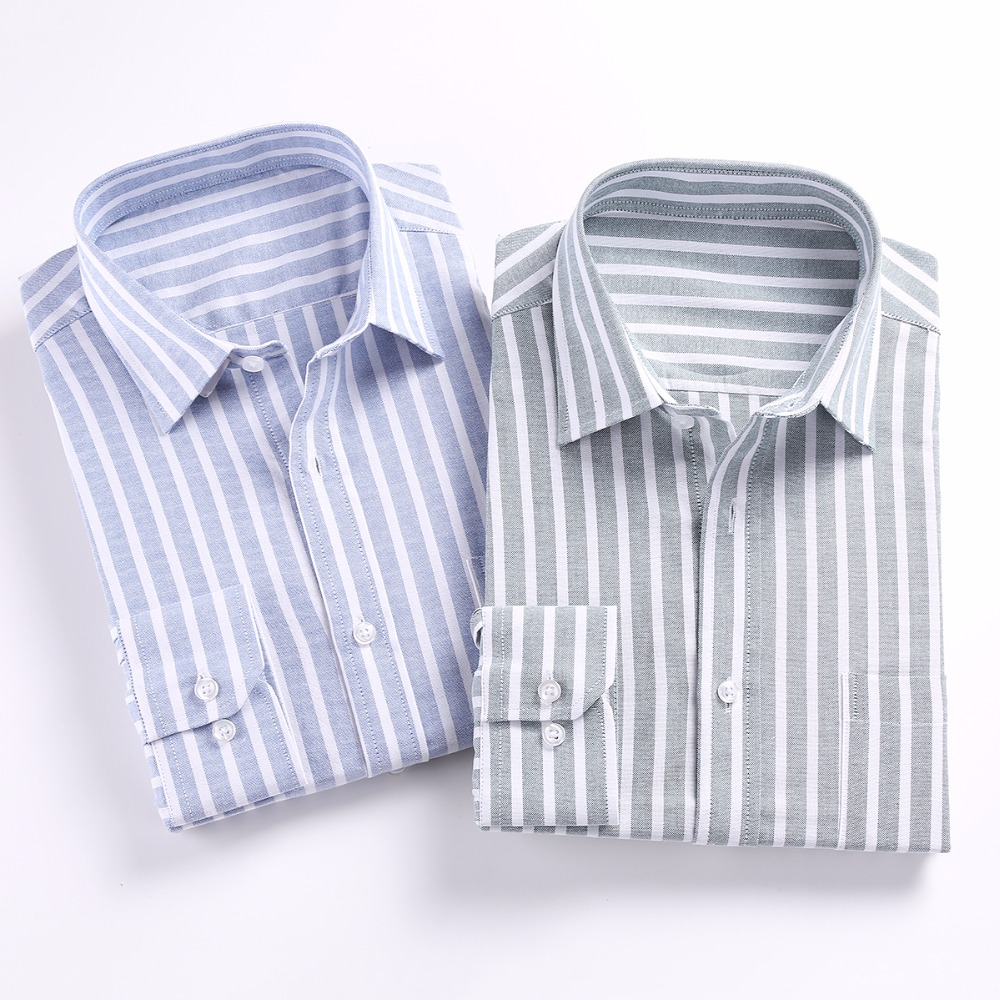 Mens Shirts Fashion 2020 Casual Slim Fit Long Sleeve High Quality Dress Shirt New Designer Striped Male Clothes Business XS-3XL