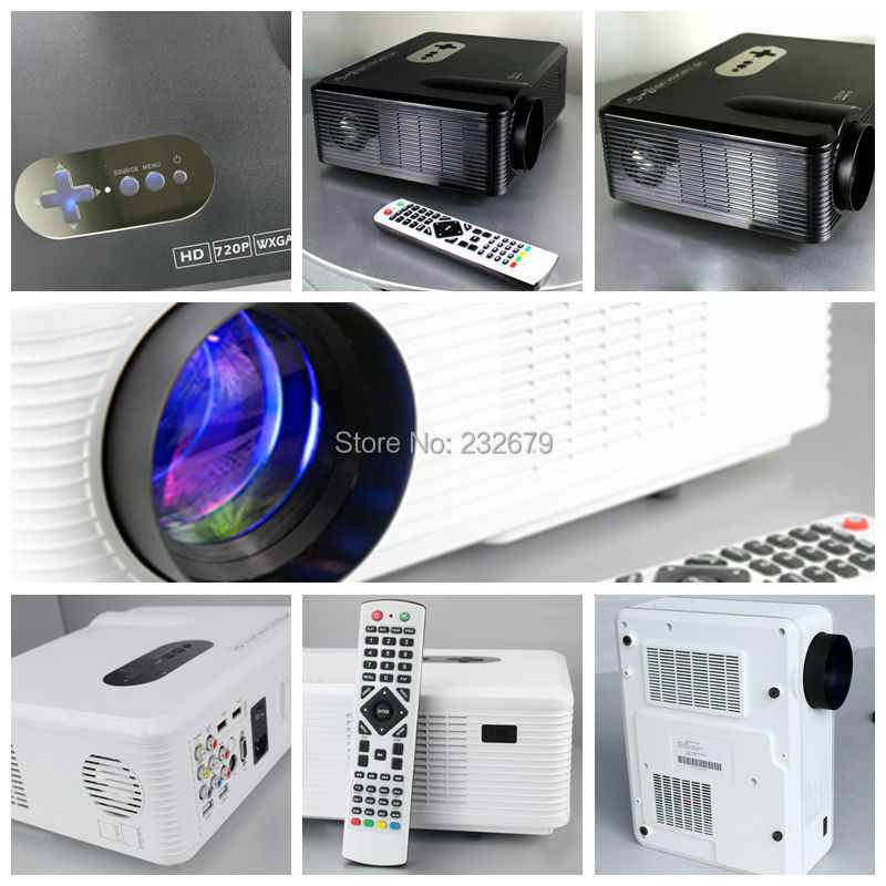 50000 Hour LED Lamp Lcd Projector Connect DVD/WII/PS3/Ipad/PC/TV ...