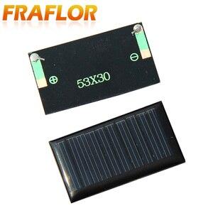 Image 4 - 100 قطعة/الوحدة شحن مجاني بالجملة 5 فولت 30mA 53*30 مللي متر الخلايا الشمسية مصغرة الألواح الشمسية لتقوم بها بنفسك 3.6 فولت شاحن البطارية التعليم أطقم