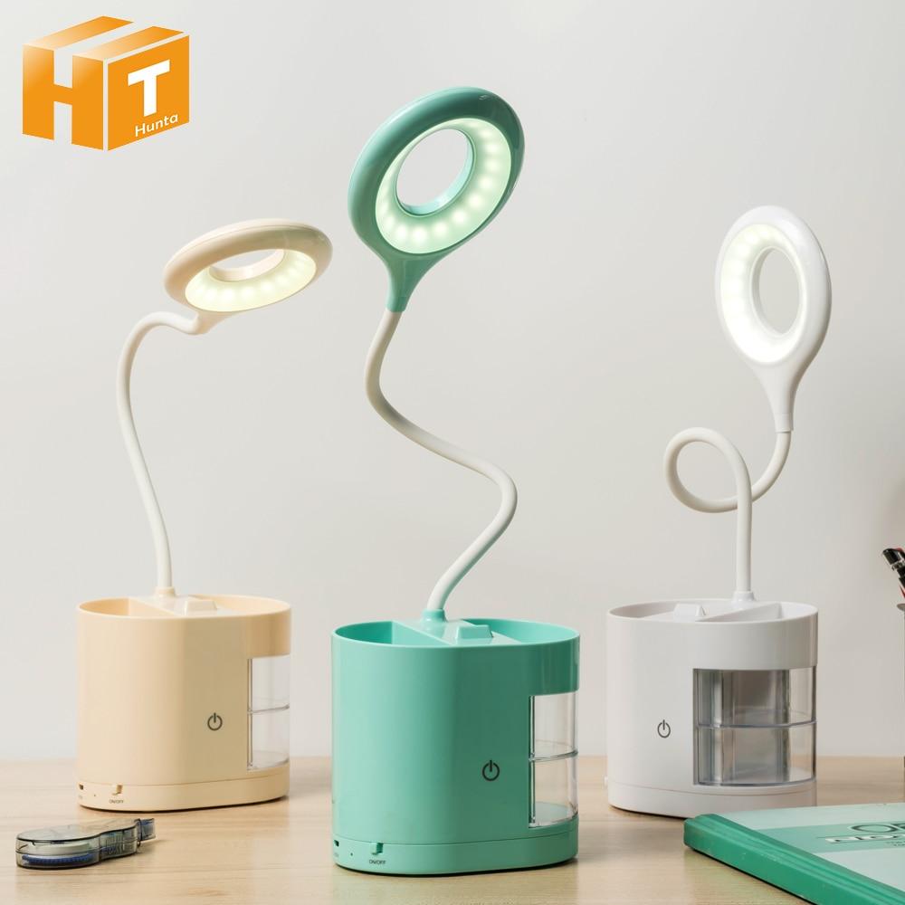 Recipiente caneta Desk Lamp LED Luz Caixa De Armazenamento de artigos de Papelaria Estudo Escurecimento Toque Lâmpada de Leitura um belo presente para As Crianças.