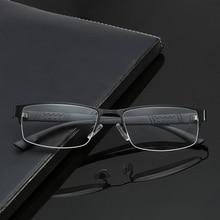 BOYSEEN Vintage medio marco de metal moda hombres gafas de lectura presbicia anteojos 1,0 a 4,0 8015
