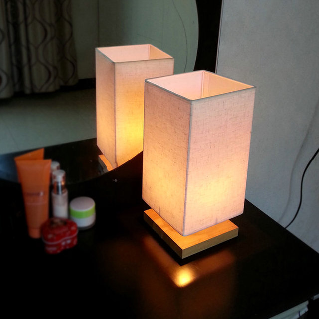 Online shop table bedside lamps japan style lamp shades square led table bedside lamps japan style lamp shades square led study night lamps abajur para quarto for living room bedroom t12 aloadofball Gallery
