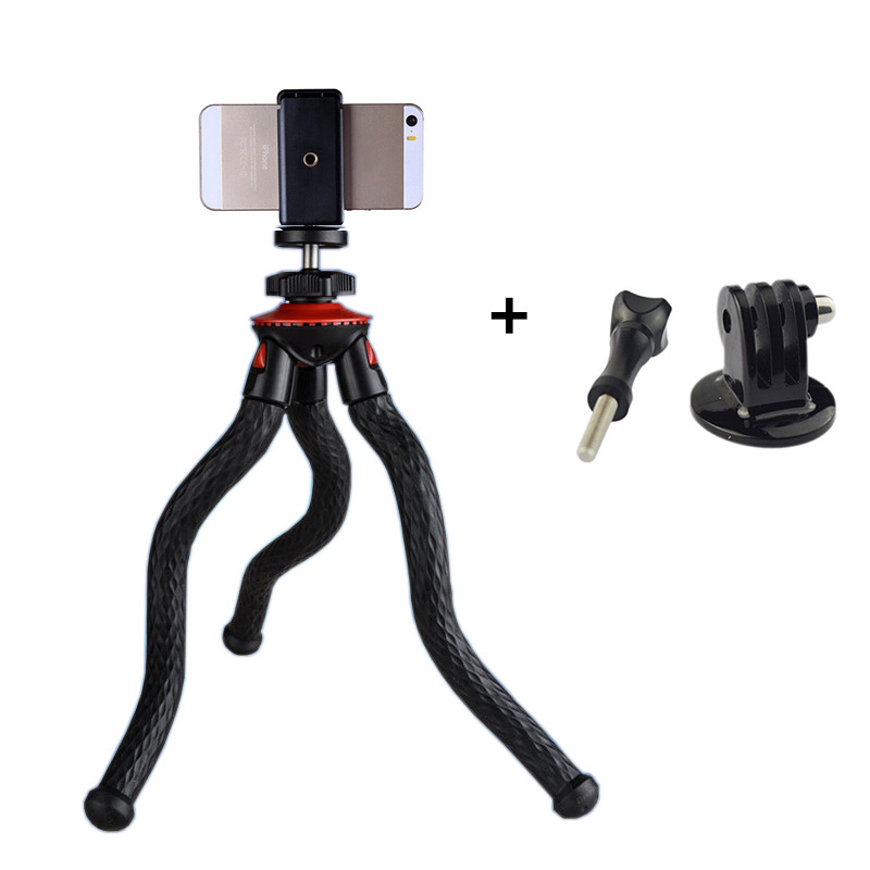 New Mini Flexible Tripod With Phone Holder Portable Stand Octopus tripod For Gopro hero SJcam Xiaoyi Action Cameras Accessories