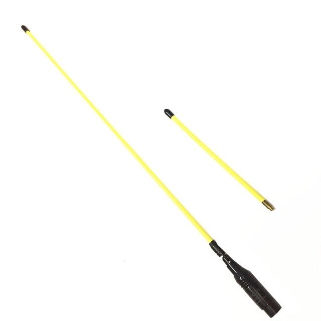 Yellow Long and Short Antenna Soft Antenna 144/430MHZ SMA M for  VX 5R, VX 6R, VX 7R, VX 8R, VX 110 radios