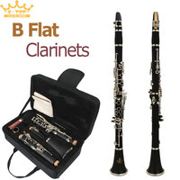 Latest European Designed Band B Flat Clarinet Black Student Clarinet 10 Reeds