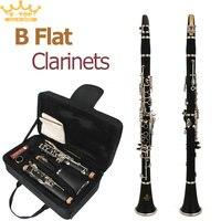 Latest European Designed Band B Flat Clarinet Black Student Clarinet 10 Reeds