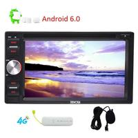 EinCar Android 6.0 Double Din 6.2'' Car Stereo In Dash GPS Car Radio Bluetooth/WiFi/OBD2/Mirror link+4G Dongle/External MIC