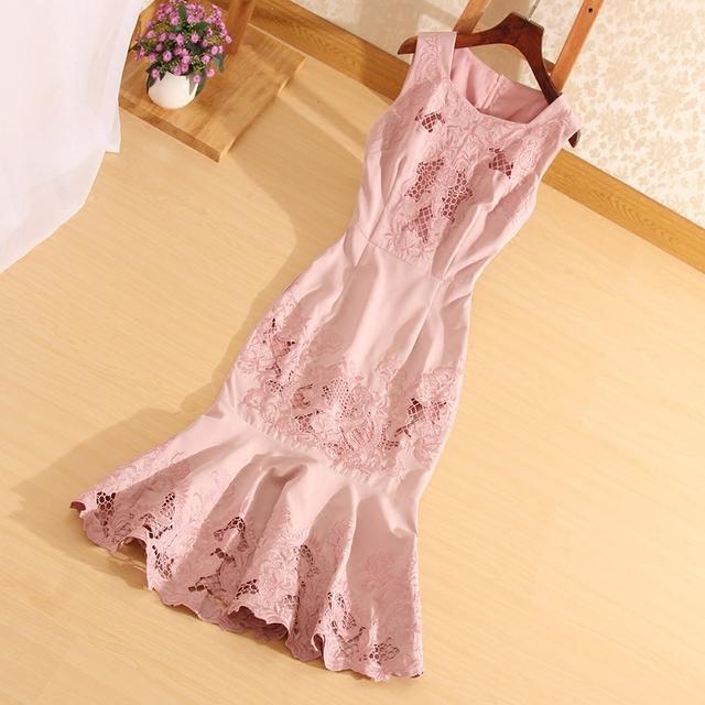 Elegant Ladies Midi Party Dress