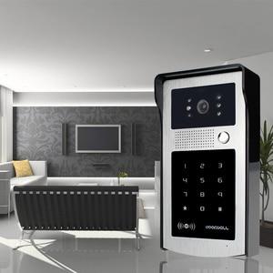 Image 5 - Проводной Водонепроницаемый видеодомофон, система наружной камеры, светодиодный светильник с защитой от дождя и RFID брелоками