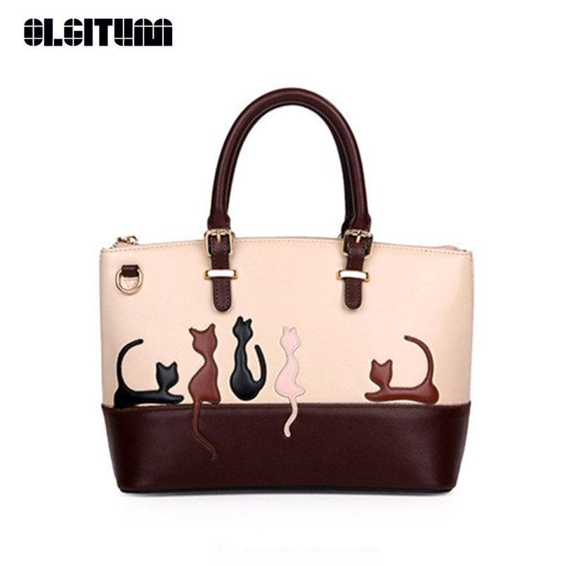 OLGITUM 2017 Women Messenger Cross Body Casual Tote Lady  Detachable Belt Handbags Cute PU Leather Girls Shoulder Bag HB231