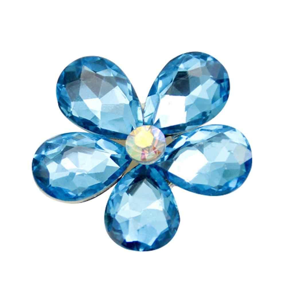Indah Paduan Berlian Imitasi Bunga Outlet Udara Mobil Interior Ornamen DIY Aksesoris