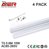 600mm 2ft Led Tube T5 10Watt AC85 265V 4 Pieces Free Shipping By Fedex