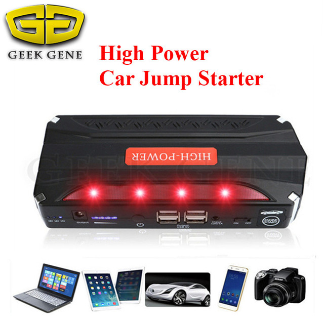Emergency Booster The New Car Jump Starter High capacity Safe Escape Hammer charge for Ipad Camera 4USB SOS Light &Portable