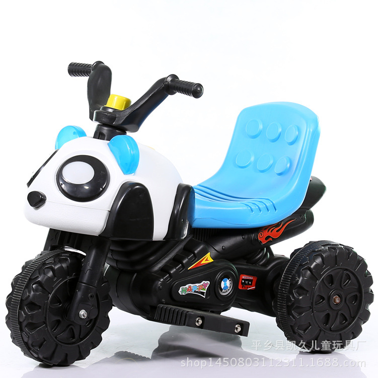New Panda Children Rechargable Electric Motor Car Battery Tricycle Baby Toys Ride On Music Car peppa s car ride