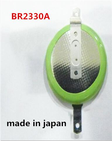 HOT NEW BR2330A BR2330 2330 3V lithium battery High temperature resistant button Li-ion battery with leg weding feet foot image