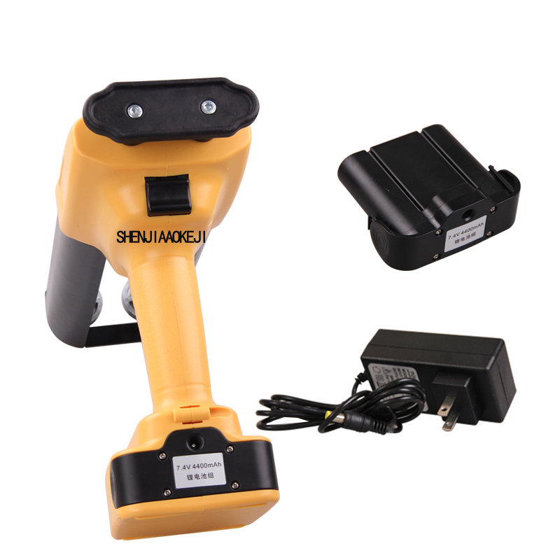 Double Tube Electric Glue Gun 7.4V Lithium Battery Handheld Hydraulic Glue Gun Double Pipe Glue Gun Tools 1PC