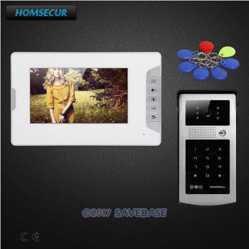HOMSECUR 7inch Hands-free Video Door Entry Phone Call System with Keyfobs Password KeypadHOMSECUR 7inch Hands-free Video Door Entry Phone Call System with Keyfobs Password Keypad