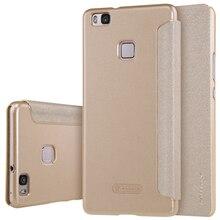 Оригинал NILLKIN Искра Флип Кожаный с Smart View Окно Назад крышка Телефона Чехол для Huawei P9 Lite G9 Lite бесплатная доставка