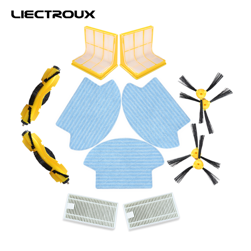 (Для B6009) робот Пылесос liectroux B6009, роликовая щетка 2 шт, боковая щетка 4 шт., hepa фильтр 2 шт., основной фильтр 2 шт. швабра/ тряпка 3 шт.