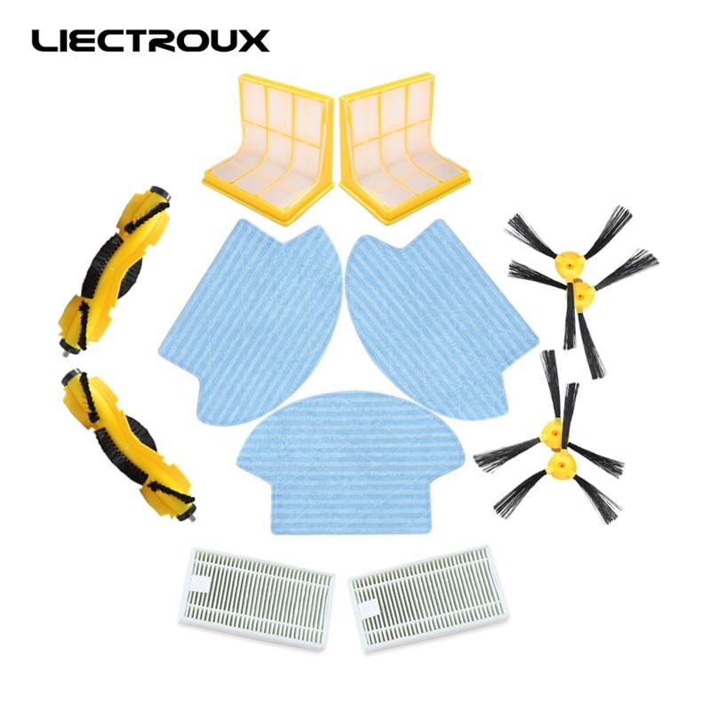 (For B6009)Spare part for Robot Vacuum Cleaner B6009,Side Brush*4pcs+HEPA Filter*2pcs+3D Filter*2pcs+CentraL Brush*2pcs+Mop*3pcs