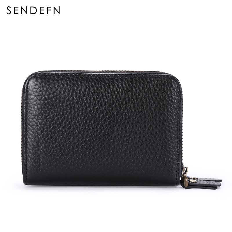 Image 4 - SENDEFN פיצול עור יוניסקס עסקי כרטיס אשראי בנקאי בעל כרטיס מקרה מזהה מחזיקי נשים רב כרטיס חריץ מטבע ארנק 5210 5מחזיקי כרטיסים ותעודת זהותמזוודות ותיקים -