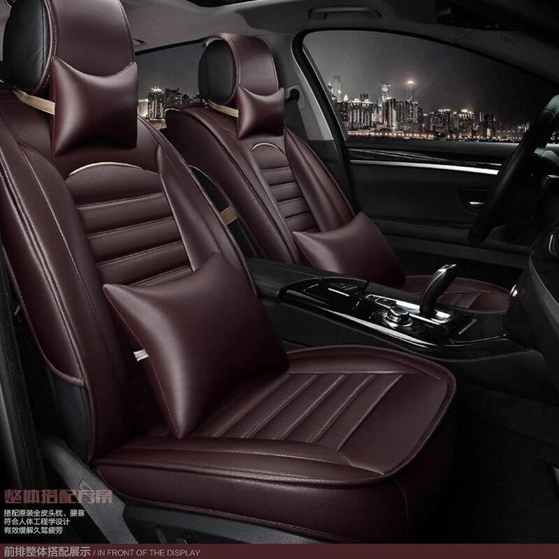 Для Renault Fluence Latitude талисман Лагуна брендовая черная кожа сиденья спереди и сзади полный набор автомобиля чехлы