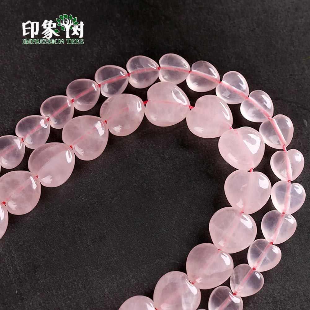 10/14mm urok naturalny różowy kryształ serce kształt kamień koraliki luźne pęknięty okrągły kwarc Spacer koraliki do biżuterii DIY 22012