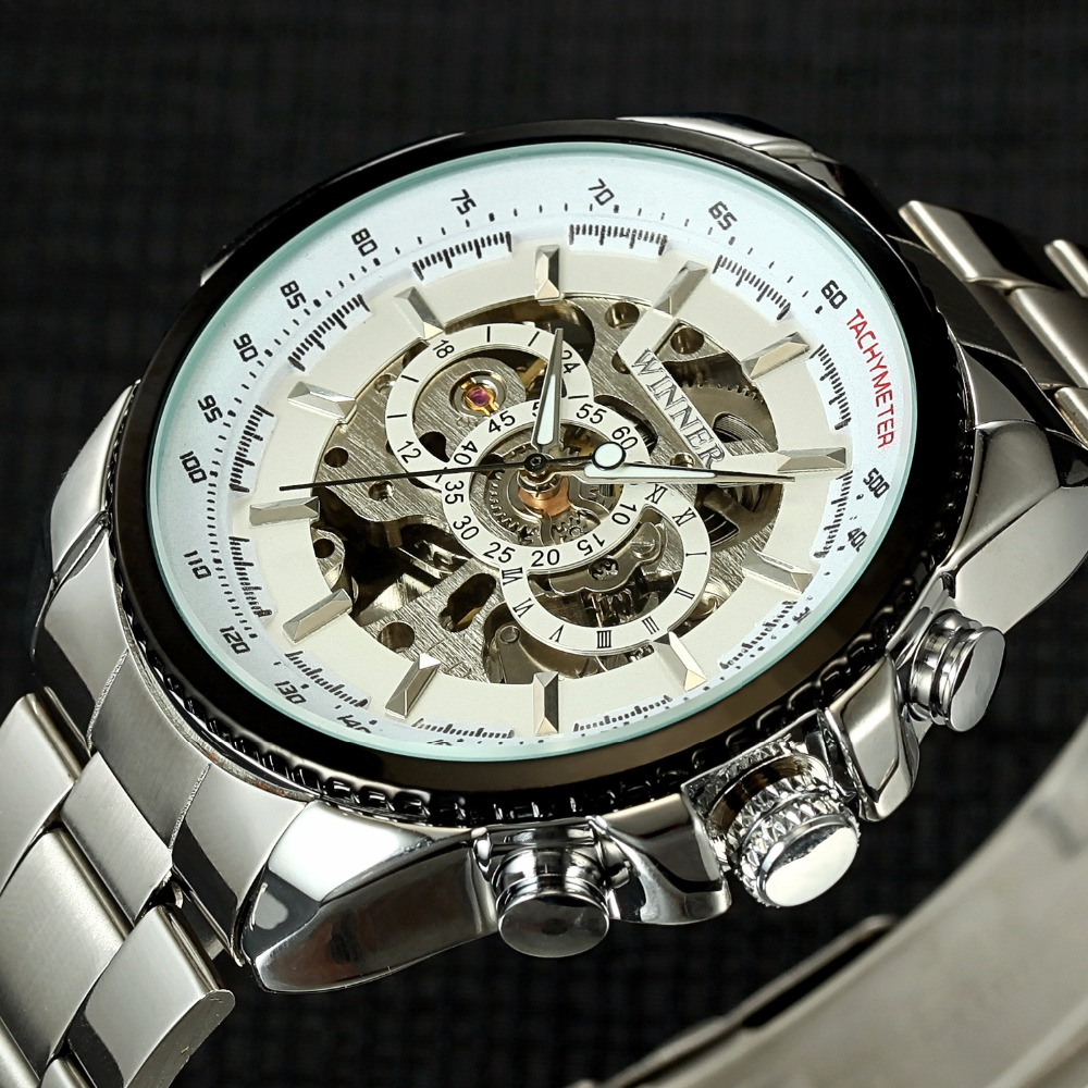 Winner New Design Men Mechanical Watches Mens Top Brand Luxury Montre Homme Clock Men Automatic Skeleton Watch Relogio Masculino