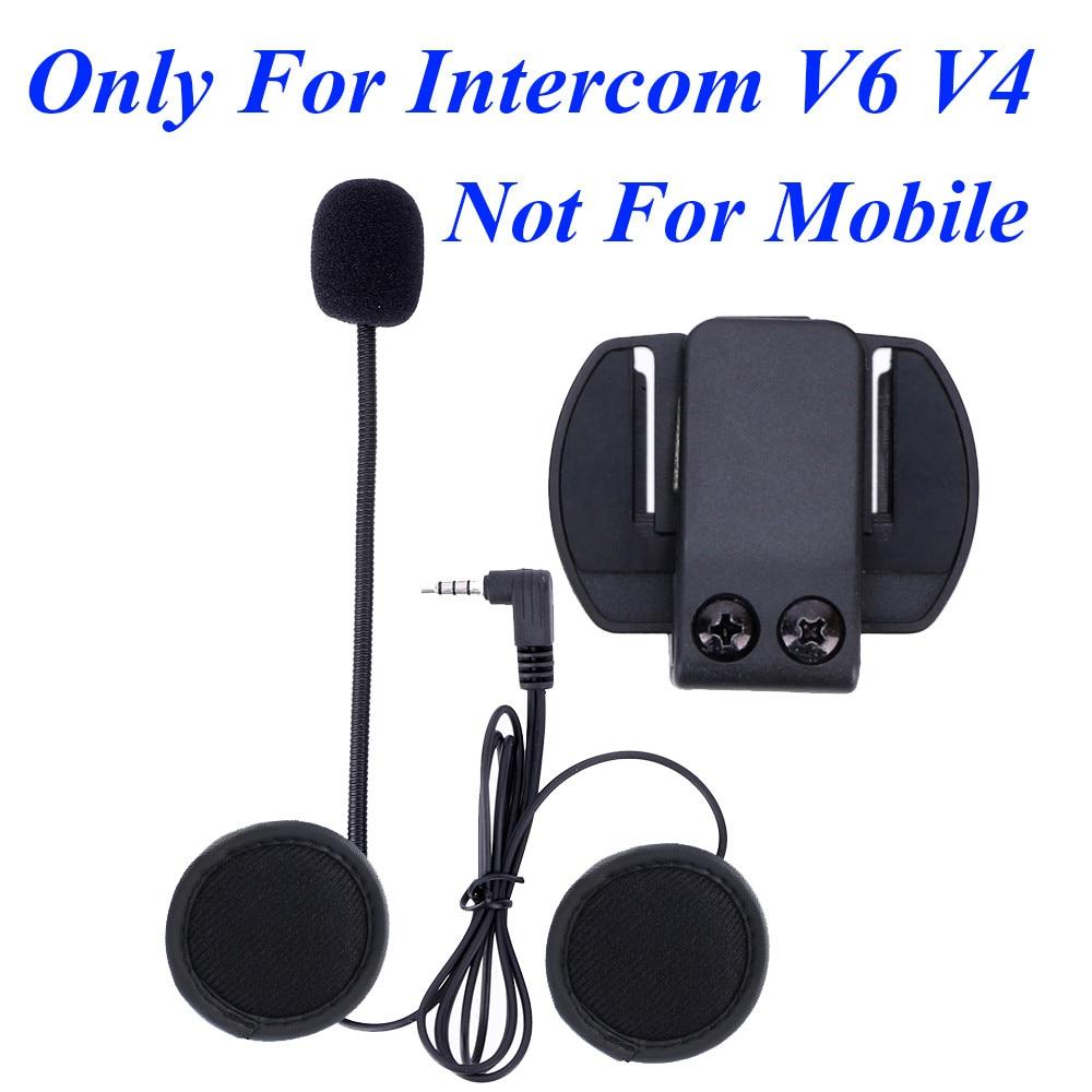 Micr/ófono Micr/ófono Soft Cable Auricular Traje para BT-S2 Motocicleta Casco Intercom Headset