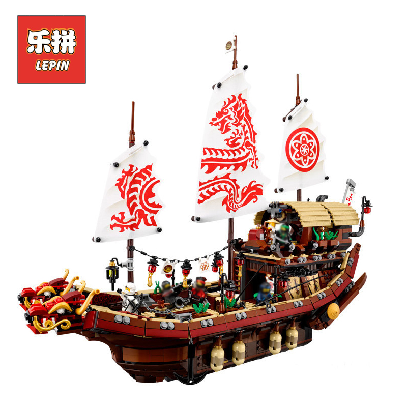 все цены на Lepin 06057 NINJAGO Movie Series Legoing 70618D estiny's Bounty Ship Lloyd Building Blocks Bricks Educational Toys Boy Model онлайн